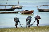 Fishermen, Nungwi village, Zanzibar — Stock Photo