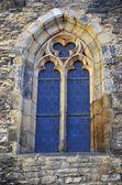 Ventana antigua iglesia, praga — Foto de Stock