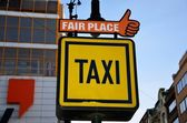 Taxi sign, Prague — Stock Photo
