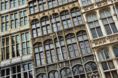 Detail of typical windows, Antwerpen — Stock Photo