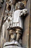 Cathedral with its statues, ancient architecture from Gent — Stock Photo