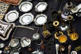 Flea Market in Brussels, Belgium — Stock Photo