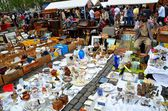 Busy Sunday Flea Market in Brussels — 图库照片