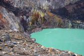 Crater of active volcano — Stock Photo