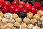 Beans of coloured pepper - macro — Stock Photo