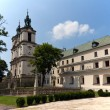 View on church and churchyard on skalka in cracow in poland — Stock Photo
