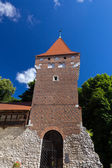 Tower of the city fortification in krakow in poland — Stock Photo