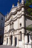 Tempel synagogue in district of krakow kazimierz in poland on miodowa street — Stock Photo