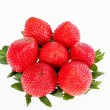 Group of strawberries isolated on white background — Stock Photo