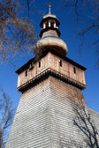 Old wooden antique  church in poland in rabka — Foto Stock