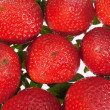 Group of red strawberries isolated on white background — Stock Photo #49011377