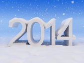 New Year and snow — Stock Photo
