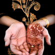 Mehendi, henna on bride's hand - Color — Stock Photo #29567199