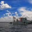 Towing Boat - Fishing boat trawler — Stock Photo