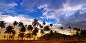 Maracas Beach Panorama - Trinidad and Tobago — Stock Photo