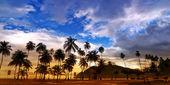 Maracas Beach Panorama - Trinidad and Tobago — Stock Photo