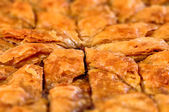 Homemade baklava - Turkish filo sweet pastry — Stock Photo