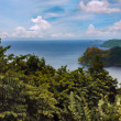 Maracas bay in Trinidad and Tobago view from the above the hills — Stockfoto