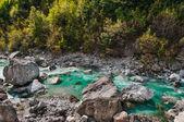 Valbona river in Northern Albania tourist attraction — Foto de Stock