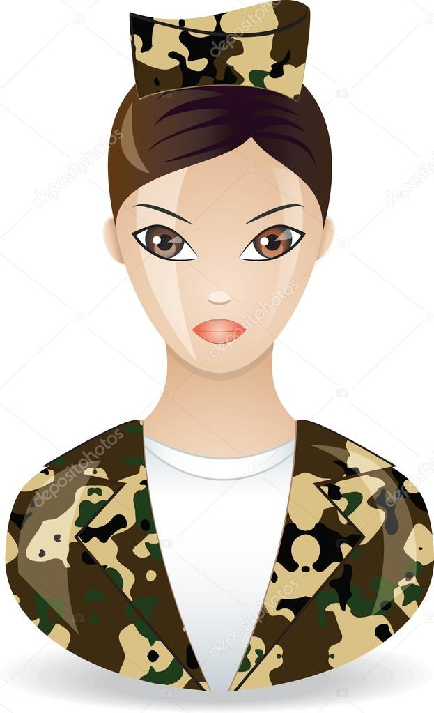 Military guy in form. Vector icon  Stock Vector #12570359