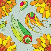 Naadloze bloemenpatroon — Stockvector