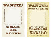 Wanted Posters — Stock Vector