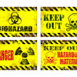 Hazard Signs — Stock Vector