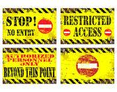 No Entry Signs — Stock Vector