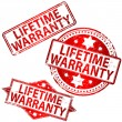 ストックベクタ: Lifetime Warranty Stamp