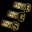 Vector de stock : Jackpot Gold Stamp