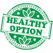 Healthy Option Stamp — Stock Vector