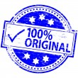 100 Percent Original Rubber Stamp — Stock Vector