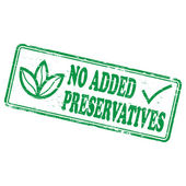 No Added Preservatives Stamp — Stock Vector