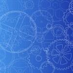 Gears Blueprint — Stock Vector