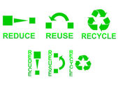 Reduce Reuse Recycle — Stock Vector