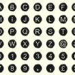 Vintage Typewriter Letters — Stock Vector