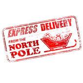 Timbre de pôle nord — Vecteur