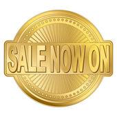 Sale Gold Badge — Vector de stock