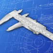 Vernier Blueprint — Stock Photo