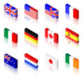 3D Flags — Stock Vector