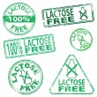 Stock Vector: Lactose Free Stamps