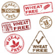 Wheat Free Stamps — Stock Vector