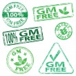 Stock Vector: G M Free Stamps