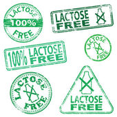 Lactose Free Stamps — Stock Vector