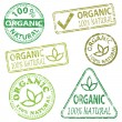 Organic Stamps — Stock Vector #18608279