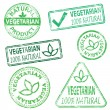 Vegetarian Stamps — Stock Vector #18608295