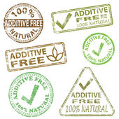 Additive Free Stamps — Stock Vector