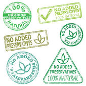 No Added Preservatives Stamps — Stock Vector