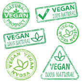 Vegan Stamps — Stock Vector