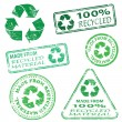 Royalty-Free Stock Vector Image: Recycled Stamps